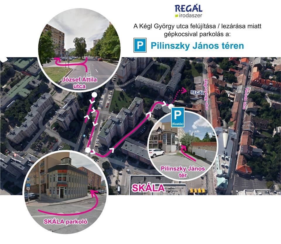 Kégl György utca felújítás